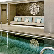 marine-grade stainless steel, lap pool, Corniche Building, London. art, sculpture