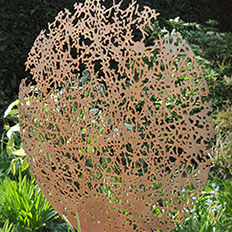 sculpture,garden,corten,weathering steel,inspired by tree,Ian Turnock,
