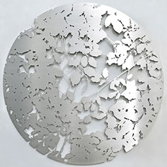 stainless steel, wall sculpture, Ian Turnock,