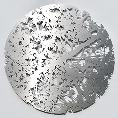 stainless steel, wall, sculpture, nature, art,