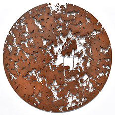 wall sculpture, Corten, art,