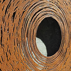 sculpture,wall,corten steel,inspired by nature,Ian Turnock,