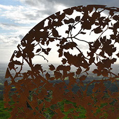 Corten weathering steel sculpture, art