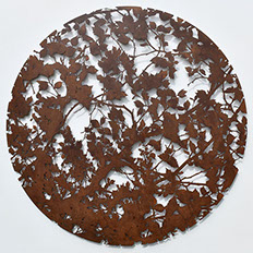 corten steel, wall, sculpture, nature, art,